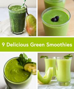9 Delicious Green Smoothie Recipes (including one of my recipes!) #vegan #recipe #healthy