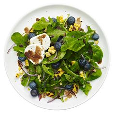 Arugula, Blueberry and Corn Salad - FamilyCircle.com