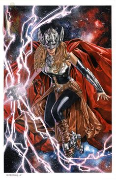 Jane Foster as Thor by Michael StaMaria Marvel Comics, Arte Dc Comics, Marvel Comic Universe, Marvel Art, Marvel Heroes, Marvel Characters, Marvel Women, Marvel Girls, Univers Marvel