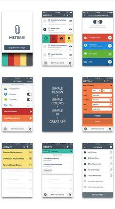 MetisMe - iOS7 Flat Iphone Application by Bouncy Studio, via Behance