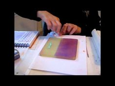 Gelli Plate Art Play - Collage Ideas - YouTube