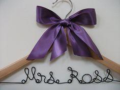 1600 Wire Bridal Dress HangerPersonalized / by FancyWireHangers, $16.00