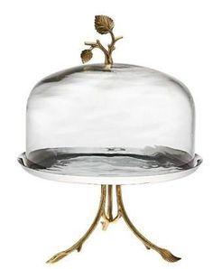 Godinger Leaf Design Cake Dome $129.72 www.cakestandsgallery.com - Cake Stands Ornate