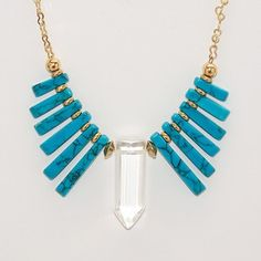 Fan Necklace Turquoise now featured on Fab. by Belliza Knight Jewelry