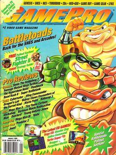Battletoads Gaming Magazines, Video Game Magazines, Classic Video Games, Retro Video Games, Nintendo Sega, Super Nintendo, My Magazine, School Games, All Games