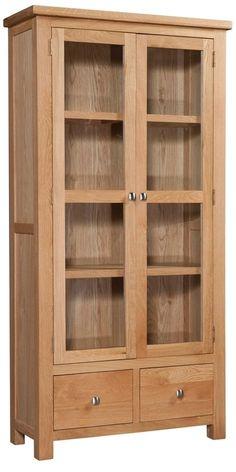 Devonshire Dorset Oak Display Cabinet