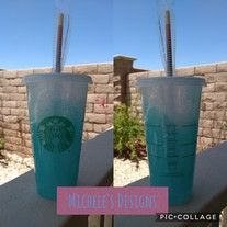 Starbucks reusable cold drink cup in Teal Blue White gltter LOVE THE SPARKLE ! Made to order orders take 1 to 2 weeks to finish and ship. Starbucks Glitter Cup, Starbucks Cup Art, Custom Starbucks Cup, Starbucks Drinks, Glitter Cups, Glitter Tumblers, Teal Blue, Blue And White, Custom Wine Glasses