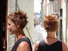 short spiky haircut - by sabine