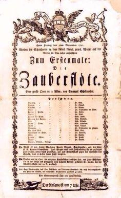 The original 1791 playbill for The Magic Flute... pic.twitter.com/2FRZRGveTN