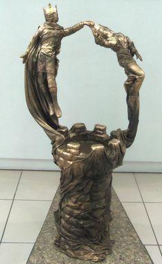Rei e Rainha Escultura de fibra de vidro e resina poliéster