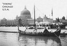 """Viking""- 1893-kopien av Gokstadskipet - ""Viking"" - 1893 viking ship replica of the Gokstad ship"