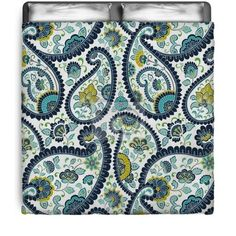 Blue Green Floral Paisley Comforter at http://www.visionbedding.com/traditional-paisley-floral-pattern-textile-rajasthan-india-queen-full-comforter-p-3096188.html