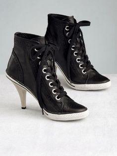 High heel Converse running shoes...