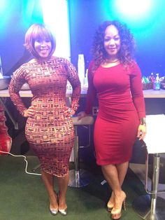 Mary Mary promoting season 3 of their show Curvy Girl Fashion, Plus Size Fashion, Dress Up, Bodycon Dress, My Black Is Beautiful, Beautiful Women, Voluptuous Women, Celebrity Style, Celebs