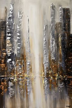Silver City Canvas Artwork by Osnat Tzadok Abstract Canvas Art, Canvas Artwork, Canvas Art Prints, Texture Painting, Beautiful Paintings, Fine Art, Art Paintings, Abstract Paintings, Wood Bars