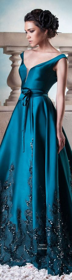 STUNNING HANNA TOUMA DRESS | Hanna Touma Couture - Luxury fashion and glamour |-pretty woman in royal blue evening gown | www.bocadolobo.com/ #luxurybrands #luxurylifestyle #exclusive