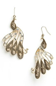 One can never have too many peacock earrings.