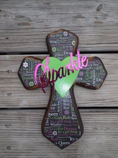 Diva Sparkle Black Green and Pinki  Decorative by ReadinginRags, $16.98