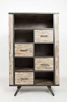 Make A Bold Statement With This Rustic Grey Bookcase From RC Willey
