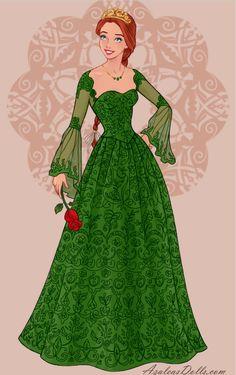 Princess Fiona in Wedding Dress Design dress up game Princess Movies, Princess Art, Princess Wedding, Disney Princess Fashion, Disney Princess Dresses, Shrek Wedding, Shrek Dreamworks, Fiona Shrek, Princesa Fiona