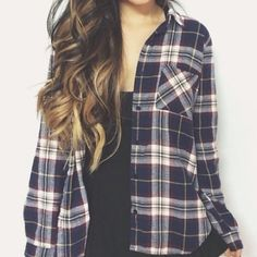 shirt plaid shirt flannel cute plaid button up plaid shirt romper Fashion Moda, Look Fashion, Teen Fashion, Fashion Outfits, Fall Outfits, Casual Outfits, Cute Outfits, Casual Shirt, Summer Outfits