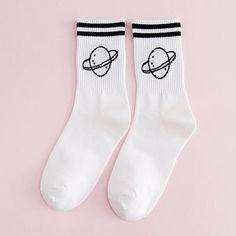Clothes For Women In 20's, Black Planet, Korean Fashion Dress, Cute Socks, Japanese Cotton, Girls Wardrobe, Striped Socks, Diy Embroidery, Kawaii Fashion