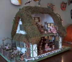 Click Image to Close (jt-Mossy Manor. lovely fairy house from Annie's minis - click through to see more)