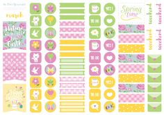 Free Printable March Spring Planners Sticker (03) The Dear You Project