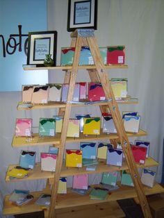 ladder display Craft Stall Display, Ladder Display, Display Ideas, Craft Stalls, Kindergarten Art, Ladders, Ladder Bookcase, Craft Fairs, Gin