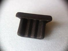 5x Staubschutz-Abdeckung MicroUSB Buchse Schutz Kappe Handy Kunststof Schwarz