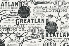 Greatland - Allan Peters / design / logo / script / badge