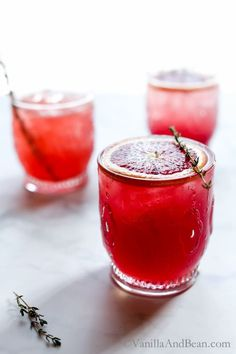 Bubbly, citrusy, refreshing with notes of raspberry and cucumber, Blood Orange Thyme and Gin Cocktail embraces winter's freshest of fruits.   Cocktail Recipe