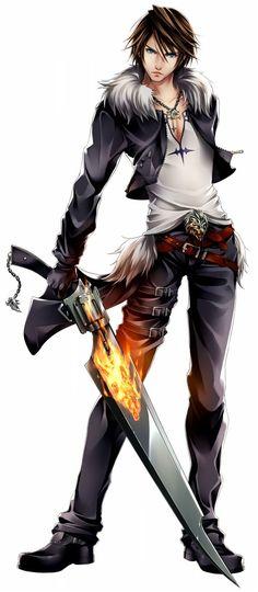 Fabulous Squall being Fabulous Final Fantasy Series, Artwork Final Fantasy, Arte Final Fantasy, Final Fantasy Collection, Final Fantasy Characters, Video Game Characters, Fantasy Rpg, Fantasy World, Lightning Final Fantasy