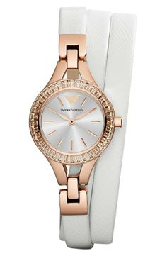 Arm candy! White wrap strap watch | Emporio Armani