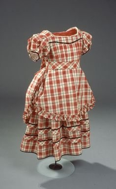 Girl's dress, ca. 1870