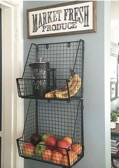 Get produce off the counter! The Best Kitchen Organization Ideas - Get produce off the counter! The Best Kitchen Organization Ideas Get produce off the counter! The Best Kitchen Organization Ideas. Kitchen Redo, Kitchen Pantry, Kitchen Dining, Dining Room, Design Kitchen, Organized Kitchen, Smart Kitchen, Farm Kitchen Decor, Basic Kitchen