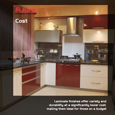 Get the best option to help you decide what type of finish you must get for your kitchen cabinets. For more details Visit: http://www.futurainterior.com/ #FuturaInterior #ModularKitchen #ModularKitchenBangalore #Kitchen #kitchencabinets #laminate