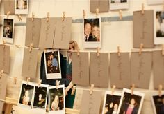 An excellent seating chart. We love the idea of having guests find their placecard, and leaving behind a Polaroid picture of themselves before they're seated. This tricky hack doubles as a fun seating experience for your guests and an simple, visual way to remember everyone who attended your wedding.