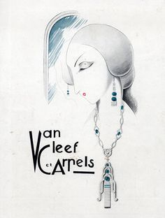 Iconic drawing for Van Cleef et Arpels.