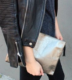 Paper Fabric Zipper Sac Pouch by Urbana Sacs on Scoutmob