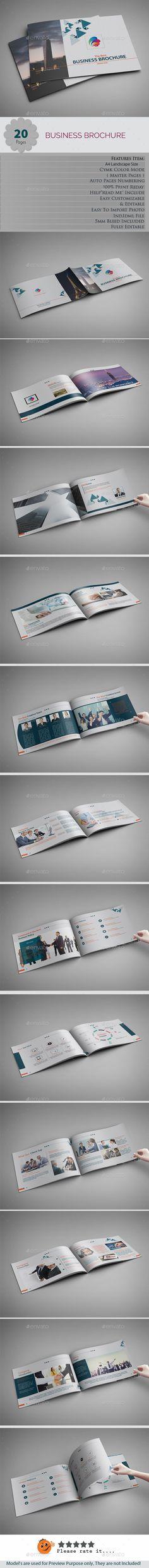 Landscape Brochures Template InDesign INDD - 20 Pages