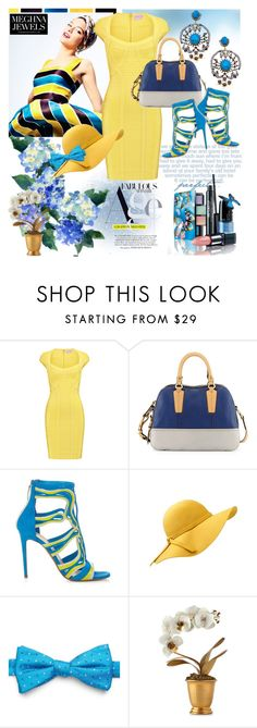 """""""Meghna Jewels 30"""" by irinavsl ❤ liked on Polyvore featuring Hervé Léger, Oryany, Peter Pilotto, Chaps, Tommy Mitchell and meghnajewels"""