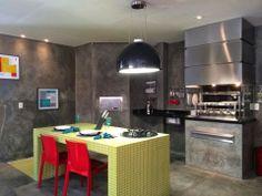 Os espaços gourmet.