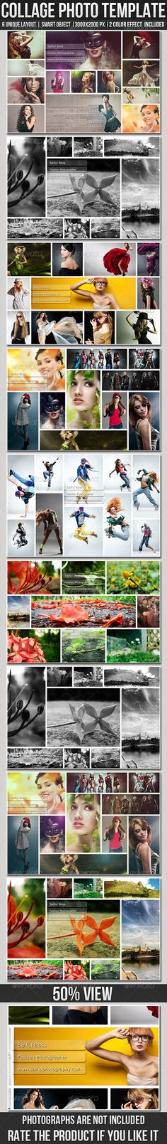 Collage Photo Templates #design Download: http://graphicriver.net/item/collage-photo-templates/6737088?ref=ksioks