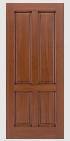 French doors and traditional entry and interior doors are as timeless as they are beautiful. If your home requires a colonial door or traditional wood entry door Antigua has the solution for you. House Main Door Design, Single Door Design, Wooden Front Door Design, Wooden Front Doors, Simple Bedroom Design, Bedroom Door Design, Door Design Interior, Door Frame Molding, Traditional Doors