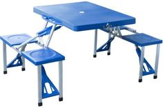 Picnic Table Camping Folding Outdoor Portable Aluminum Suitcase Garden Seats