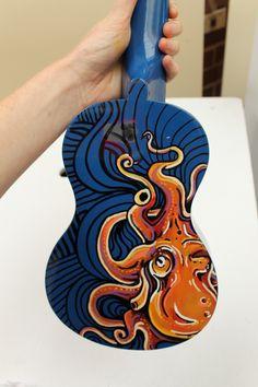 Hand-painted octopus ukulele.