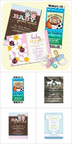 Baby Shower Collection.  Adorably sweet baby shower & gender reveal party customized invitations  #ad