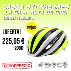 ¡El casco que todos querríamos tener! Usado por los profesionales en este momento en LA VUELTA a España.  El Synthe MIPS (y) AHORA en OFERTA para todos vosotros en ------> http://www.deporprecio.com/es/308-casco-giro-synthe-mips-blanco-amarillo-fluor-ciclismo-carretera-oferta-precio.html #synthemips #synthe #giro #lavuelta #casco #oferta