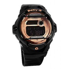 905583a6b Brand-New-Casio-Baby-G-BG169G-1-Womens-Black-Rose-Gold-Digital-Dial-Sport- Watch